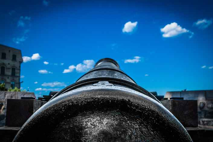 close up of photo of a cannon